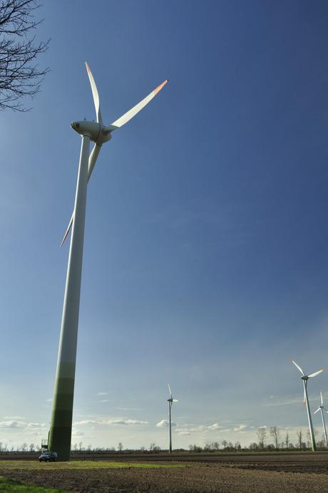 Windmolenpark Duitse grens