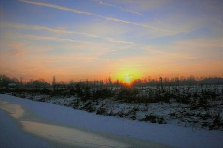 in winters avondland