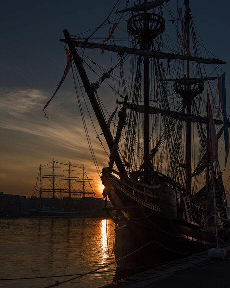 Vroege morgen Sail
