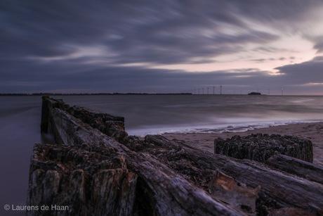Zonsondergang Lemmer strand