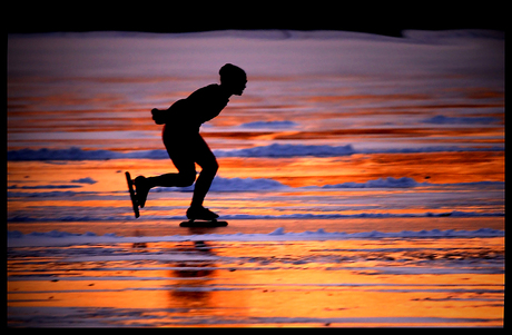 == sunset on ice ==