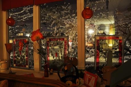 Glas-in-lood Winter