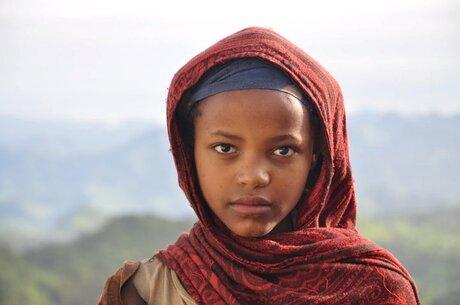 Portret van een Ethiopisch meisje