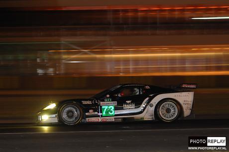 24 hrs Le Mans Corvette nacht
