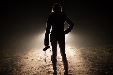 Silhouet van de fotograaf