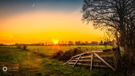 Sunset in Enter, Overijssel
