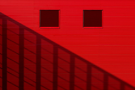 Just red and shadow