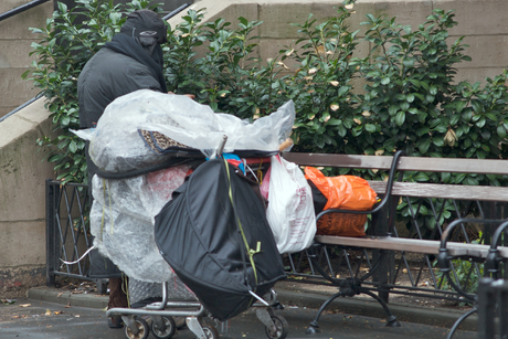 Dakloos in New York