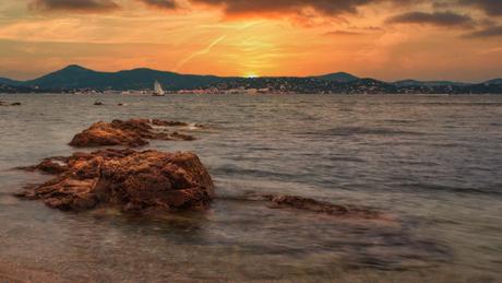 Zonsondergang in St. Tropez
