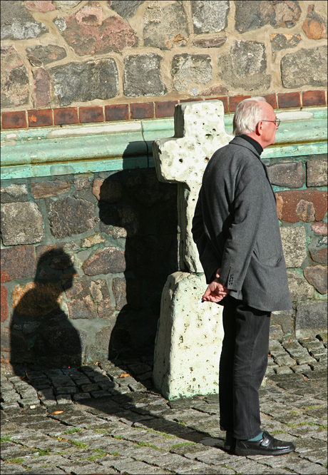 man and his shadow