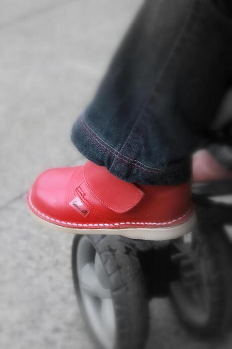 De rode schoentjes...