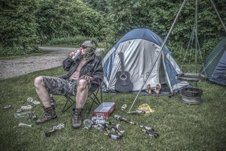 Gunter goes camping...