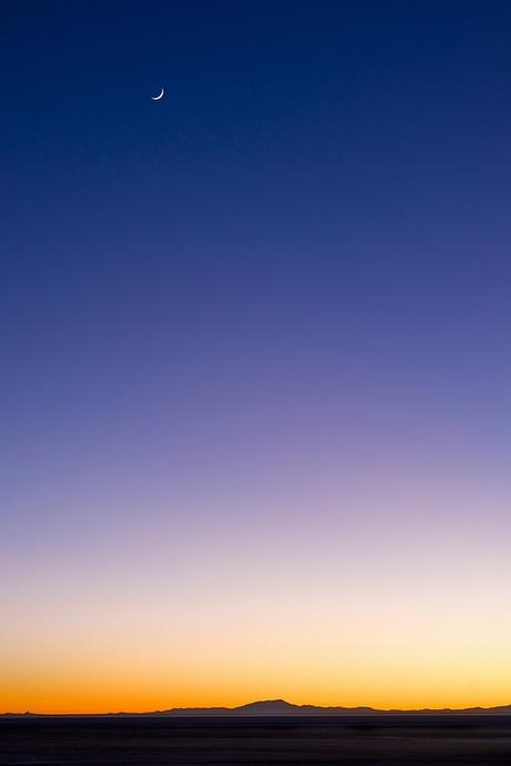 Moon over Salar de Uyuni