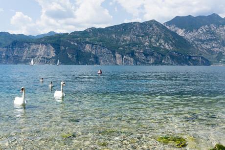 Een gewone dag aan het Gardameer (Italië)