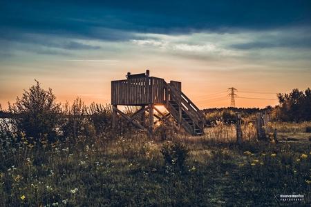 Zonsondergang - Zonsondergang - foto door MauriceMeerten op 01-07-2018 - deze foto bevat: lucht, sunset, air, zonsondergang, landschap, sun, sunlight, clouds, sundown, sky, sunshine, colors, colours, colorful, evening, sonnenuntergang