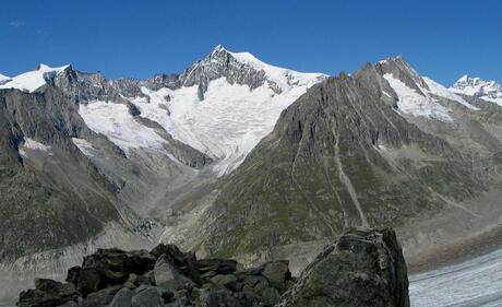 uitzicht vanuit Riederalp in Zwitserland