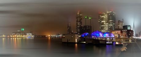 Rotterdam in de mist 8 panorama