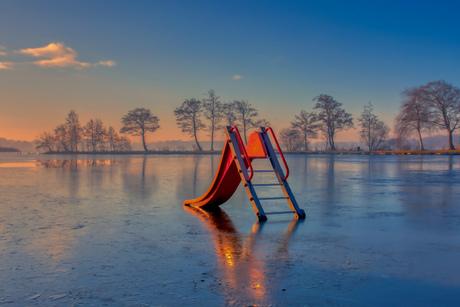 Bevroren glijbaan