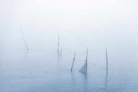 Mist aan de afsluitdijk