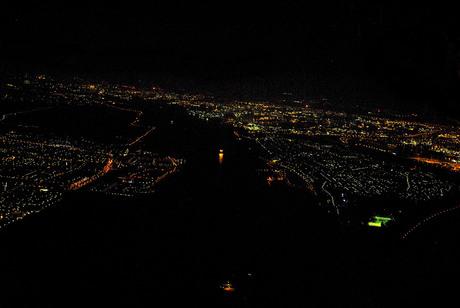 Nachtzicht op de nieuwe waterweg