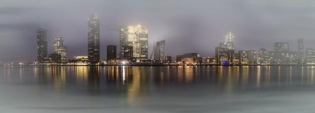 Rotterdam in de mist 7 panorama