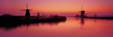 Kinderdijk winter Panorama