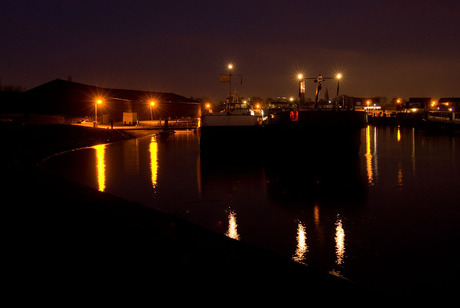 Night at the harbour