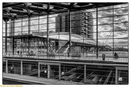 Metro&tramplatform Den Haag CS