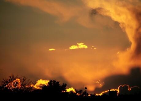 Ondergaande zon.
