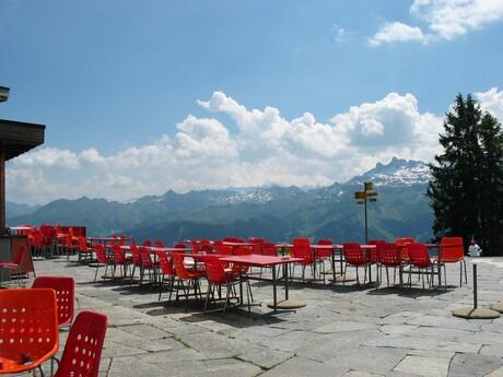 Alpen terras