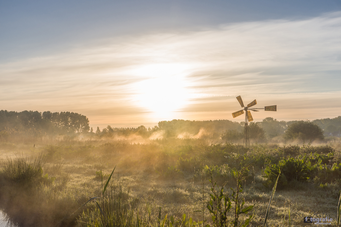 Zonsopgang met Nevel - Gistermorgen de perfecte omstandigheden voor een goeie zonsopkomst. - foto door RossumFotografie op 14-05-2019 - deze foto bevat: gras, wolken, zon, water, landschap, mist, nevel, zonsopkomst, voorjaar, sloot, dauw, weiland, waddinxveen