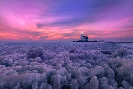 Cold sunrise in Marken