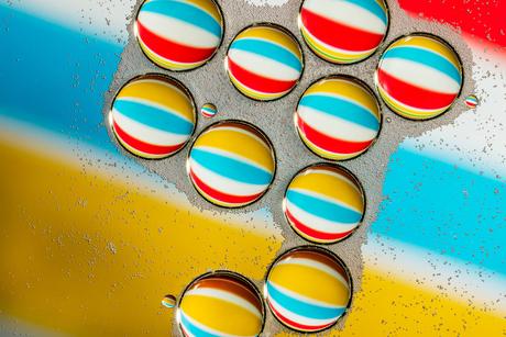 Strandballen - (Olie en Water Abstract 2)