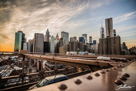 New York vanaf Brooklyn Bridge