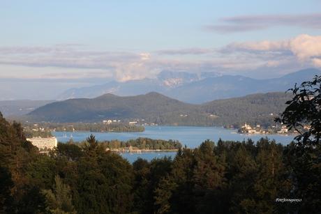 Uitzicht op de Wörther See Karinthië
