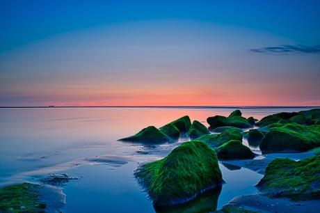 Uitwatering strand Katwijk aan Zee