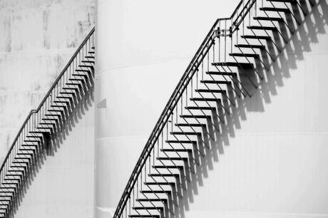 Stairs and shadow.