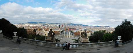 Panorama Plaça Espagna Barcelona