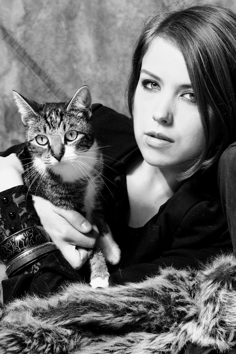 Kat en mode