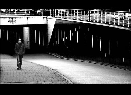 just a man...walking...