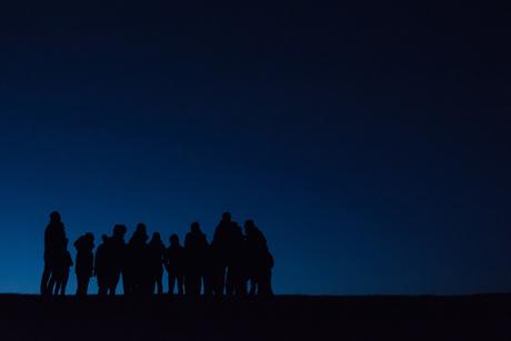 Vroeg op de Waddendijk