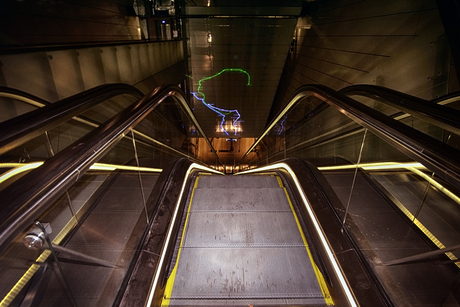 poor metro traveler follow the colors to your final destination