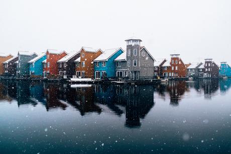 Reitdiephaven, Groningen in de sneeuw