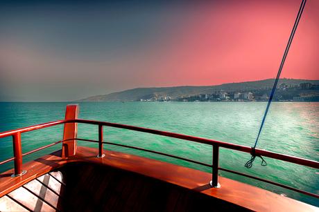 varen over het meer van Galilea