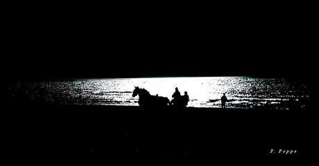 Nacht aan zee