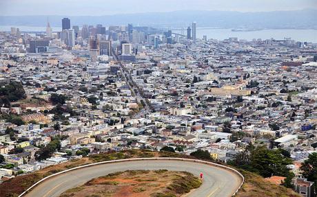 Schitterend San Francisco vanaf de Twins.