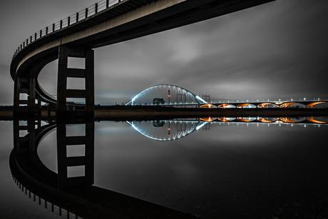 Windstille nacht in Nijmegen