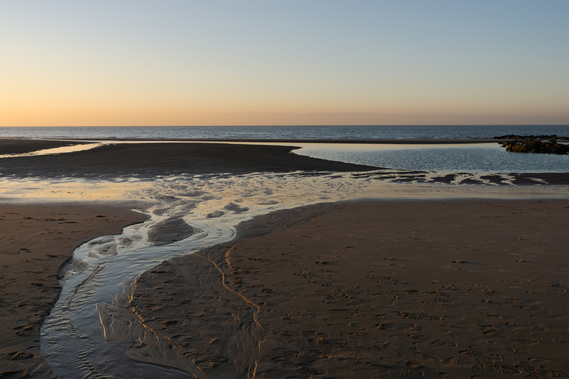 laag water - - - foto door gledder400 op 28-02-2021 - deze foto bevat: strand, zonsondergang, landschap