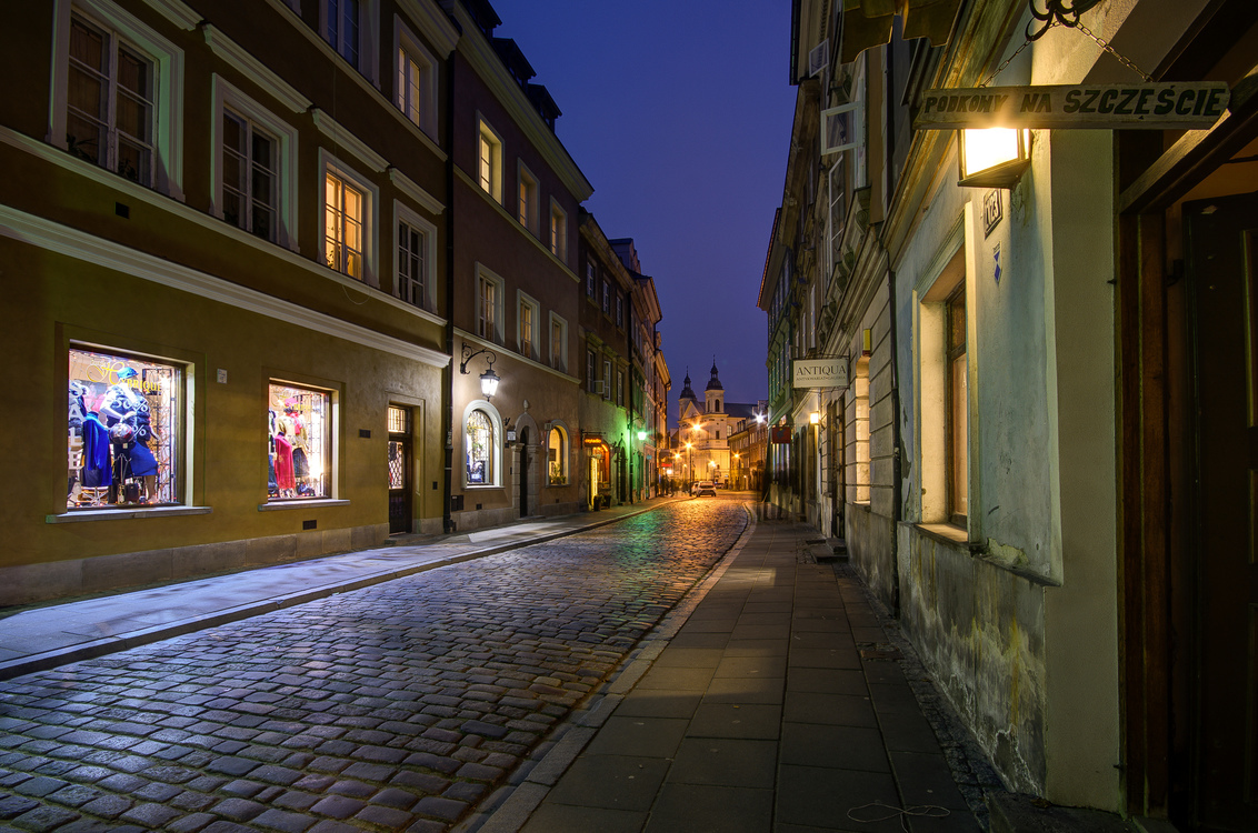 Warschau - Rynek Nowego Miasta - Warschau - Rynek Nowego Miasta - foto door mdwaard op 24-01-2018 - deze foto bevat: nachtfotografie, polen, warschau, avondfotografie, warszawa