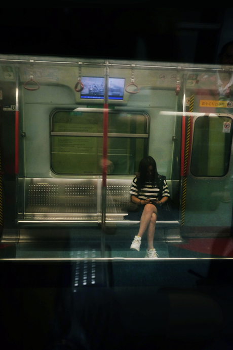 Metro passing